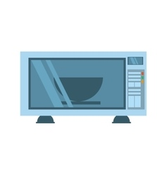 Microwave with bowl domestic appliance vector