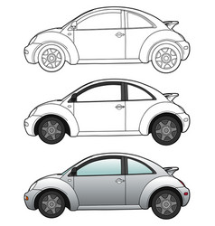 modern car technical draw vector image