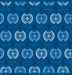 Nautical background wind rose vector