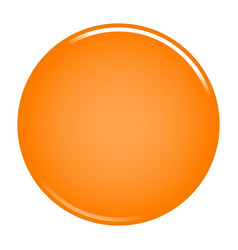 orange circle button blank web internet icon vector image