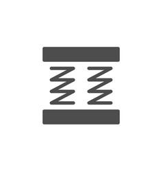 Orthopedic mattress scheme glyph icon vector