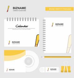 paint brush logo calendar template cd cover diary vector image