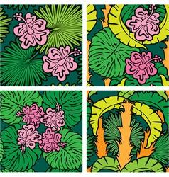 palm flower seaml 380 vector image