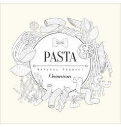 Pasta Collection Vintage Sketch vector