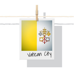Photo of vatican city state flag vector