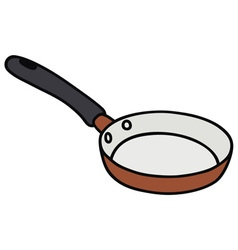 Red small pan vector