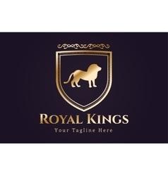 Royal logo lion silhouette vector image