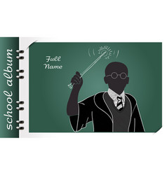 school album magic wand vector image