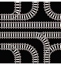 Seamless background railway tracks vector