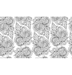 seamless doodle flower background in vector image