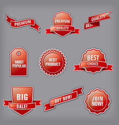 set advertising banners vector image
