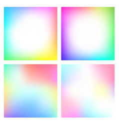 set of abstract gradient with soft colors vector image