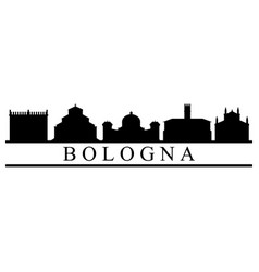 skyline of bologna vector image