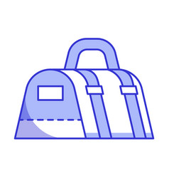 Sport bag icon vector