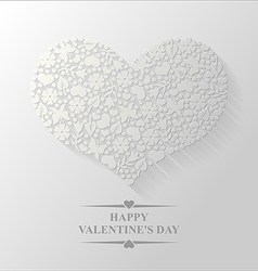 spring heart flat vector image