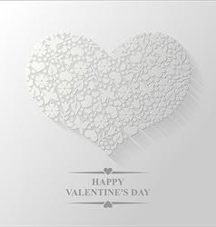 Spring heart flat vector