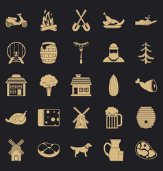 Storehouse icons set simple style vector