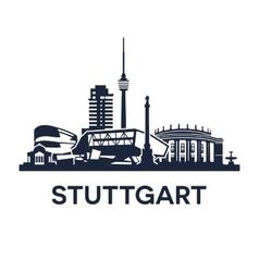 Stuttgart Skyline Emblem vector image