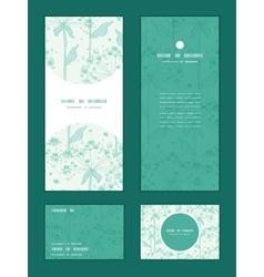 Summer line art dandelions vertical frame vector