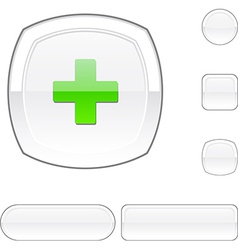 Switzerland white button vector