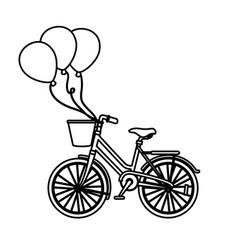 vintage bicycle vehicle vector image
