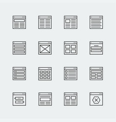 Website or application wireframe template and vector