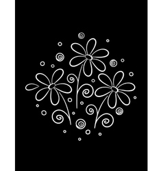 white flowers pattern vector image
