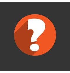 White question mark icon vector