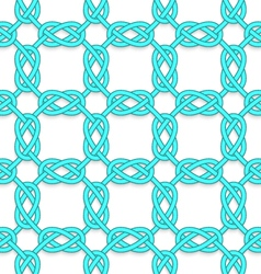 White tangled knots on white vector