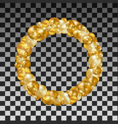 wreath of golden balls on a transparent background vector image