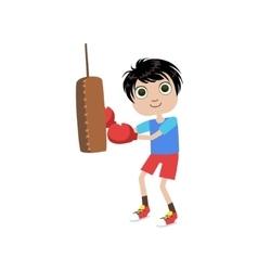 Young Boy Boxer vector image