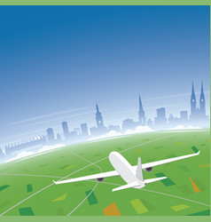 zagreb skyline flight destination vector image