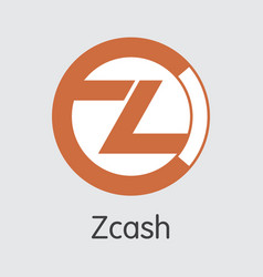 Zcash crypto currency - logo vector