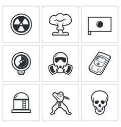 Atomic Energy of Japan icons vector image vector image