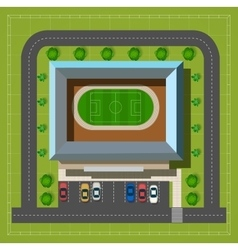 City stadium top view vector image