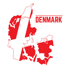 flag and map of denmark vector image vector image