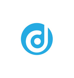 letter d logo template vector image