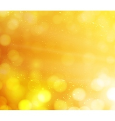 orange bokeh lights abstract background vector image vector image