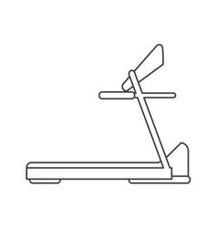 outline treadmill machine sport fitness vector image
