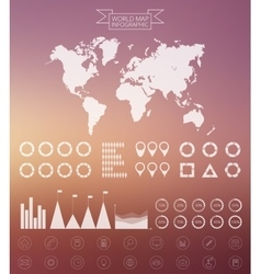 world map infographics design template vector image