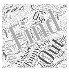 african american genealogy Word Cloud Concept vector image