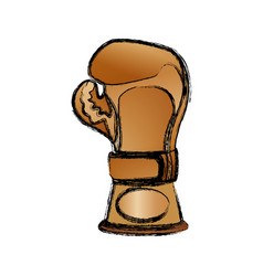 boxing trophy championship vector image vector image