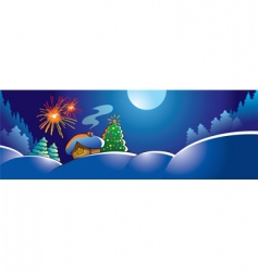 christmas fireworks vector image vector image