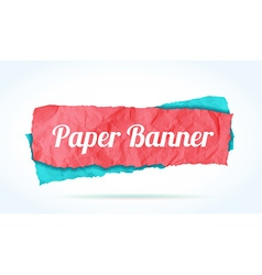 colorfull paper banner background for your text vector image vector image
