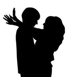 couple hugging and talking vector image