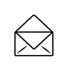 envelope letter isolated icon design vector image