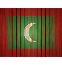 grunge maldives flag Eps10 vector image
