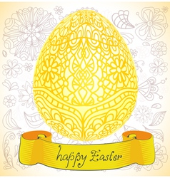 happy Easter gold egg vector image vector image