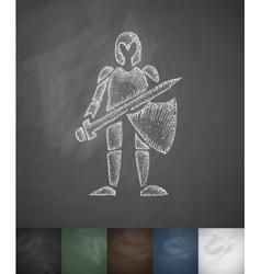 knight icon Hand drawn vector image vector image