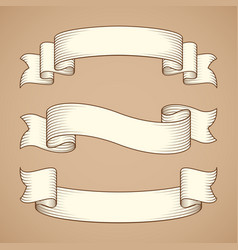 vintage ribbon banners vector image